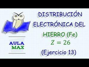 Configuracion electronica del hierro