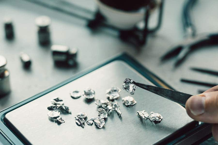Densidad de la plata