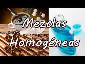 Tipos de mezclas homogéneas