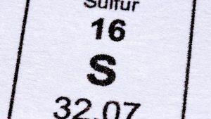 Característica del Azufre
