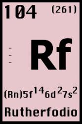 Configuración electrónica del Rutherfordio